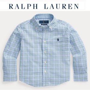 Ralph Lauren NWT classic boys plaid logo shirt